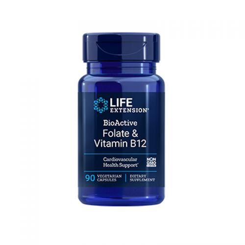 Life Extension - BioActive folat in vitamin B12, 90 kapsul