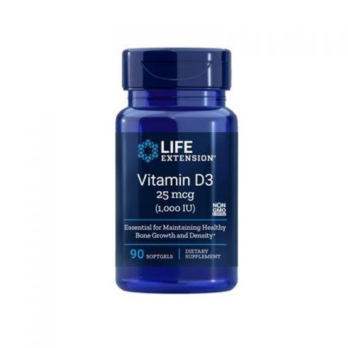 Life Extension - Vitamin D3, 1000 I.E., 90 mehkih kapsul