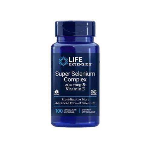 Life Extension - Super selen kompleks, 200 mcg z vitaminom E, 100 vegetarijanskih kapsul