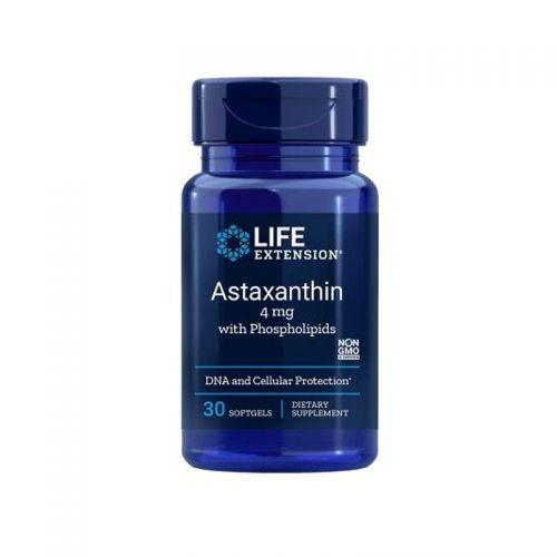 Life Extension - Astaksantin s fosfolipidi, 4 mg, 30 mehkih kapsul