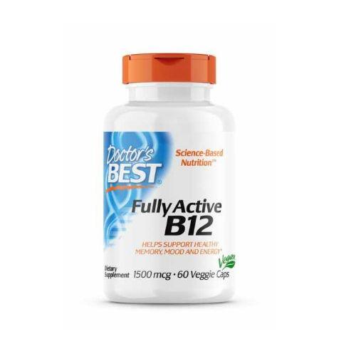 Doctor's Best Fully Active vitamin B12 1500 mcg, 60 veganskih kapsul