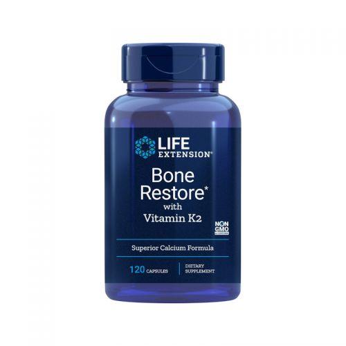 Life Extension Bone Restore z vitaminom K2, 120 kapsul