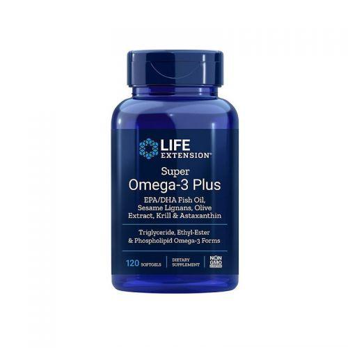 Life Extension - Super Omega–3 EPK/DHK, kril in astaksantin, 120 mehkih kapsul