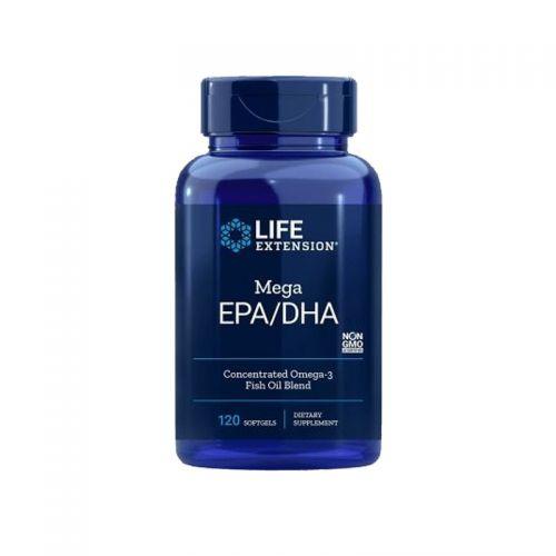 Mega EPA/DHA Omega-3, 120 mehkih kapsul