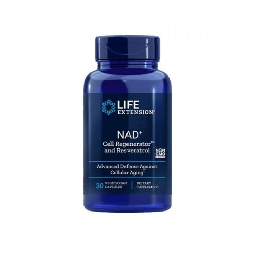 Life Extension - NAD+ Cell Regenerator ™ in Resveratrol, 30 vegetarijanskih kapsul