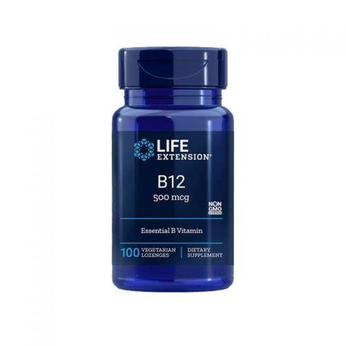 Life Extension - Vitamin B12, 500 µg, 100 pastil