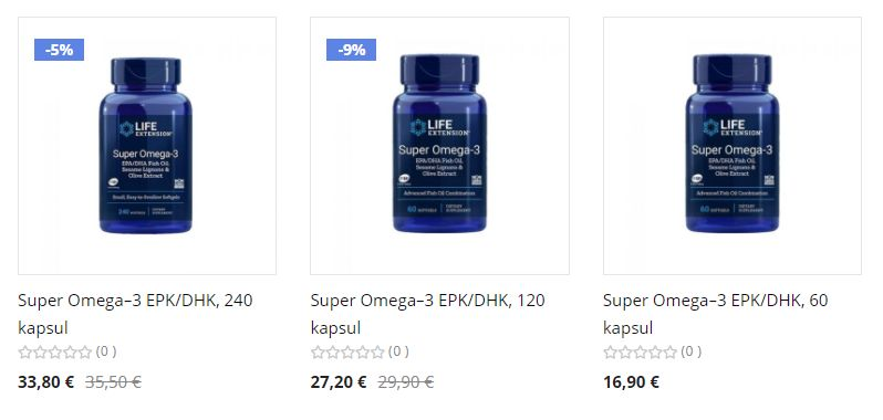 Life Extension Omega 3